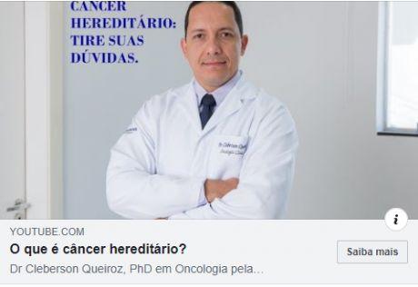 Tem casos de câncer na família? Saiba o que é câncer hereditário.